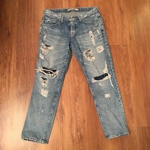 Women's Big Star cropped distressed jeans size 28